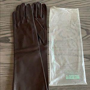 Vintage Brown Leather Gloves in original package